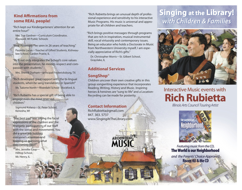 Singing at the Library Flyer
